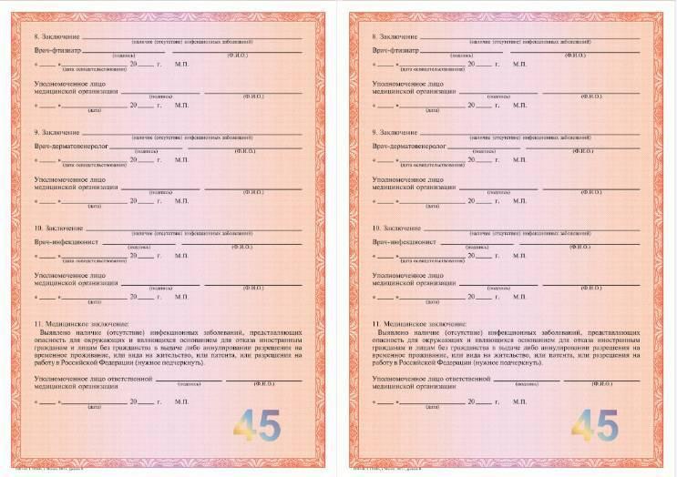 Медицинская справка в ФМС для получения патента на работу
